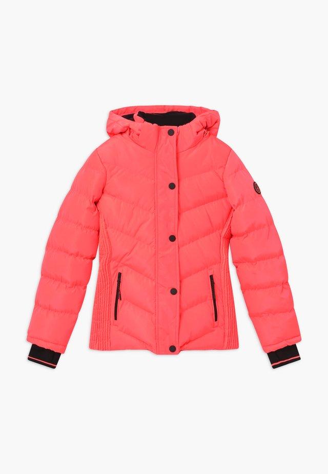 LURDES - Winter jacket - fluor coral