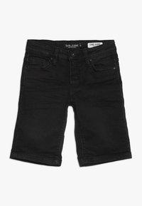 Cars Jeans - KIDS TUCKY - Džínové kraťasy - black used - 0