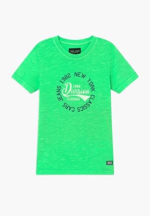 KIDS DUNTER - Triko spotiskem - neon green