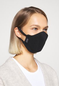Capo - FACEMASK SINGLE - Stoffmaske - black - 2
