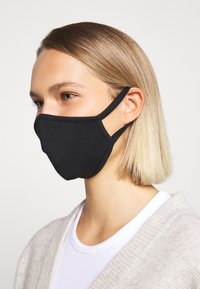 Capo - FACEMASK SINGLE - Stoffmaske - black - 1