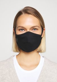Capo - FACEMASK SINGLE - Stoffmaske - black - 0