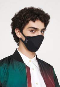 Capo - FACEMASK SINGLE - Stoffmaske - black - 7