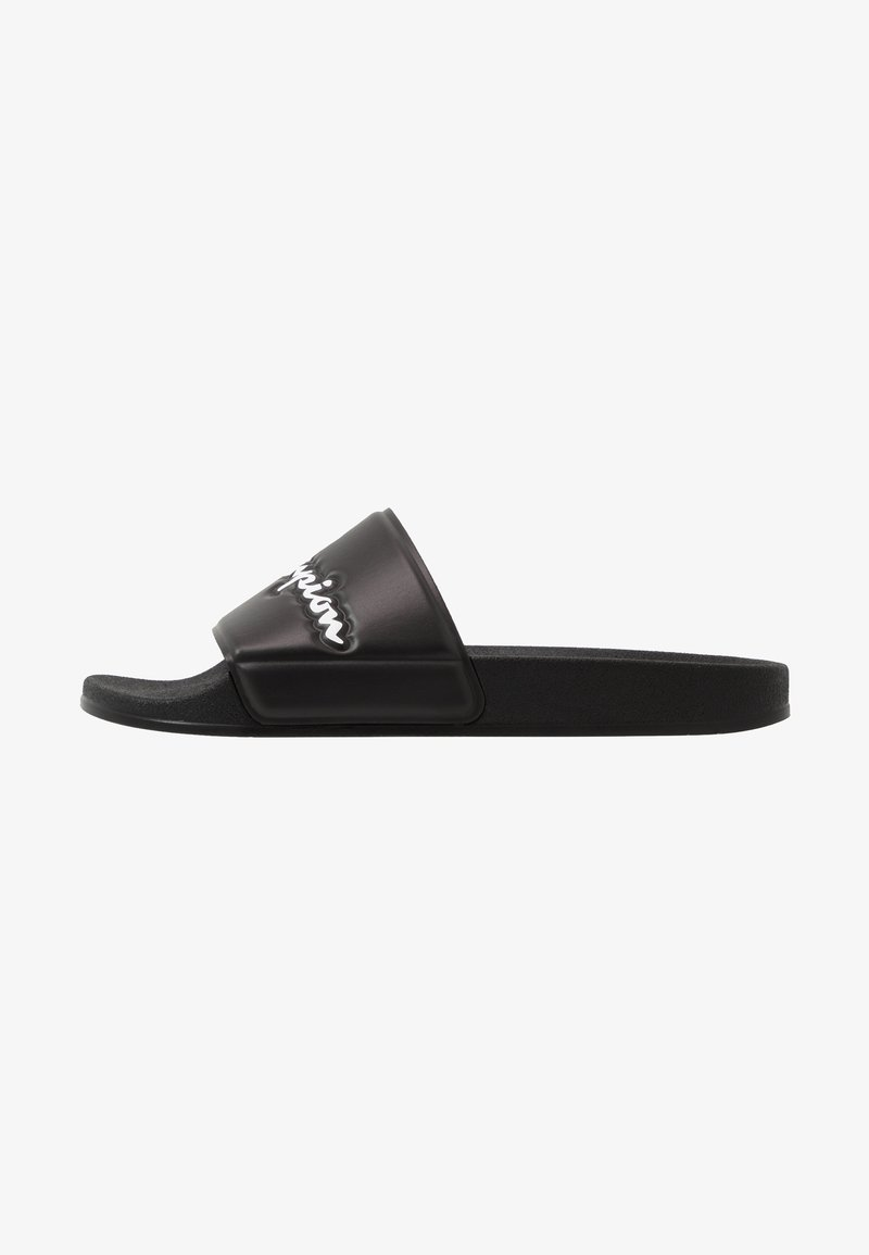Champion - SLIDE VARSITY 2.0 - Sandały kąpielowe - black