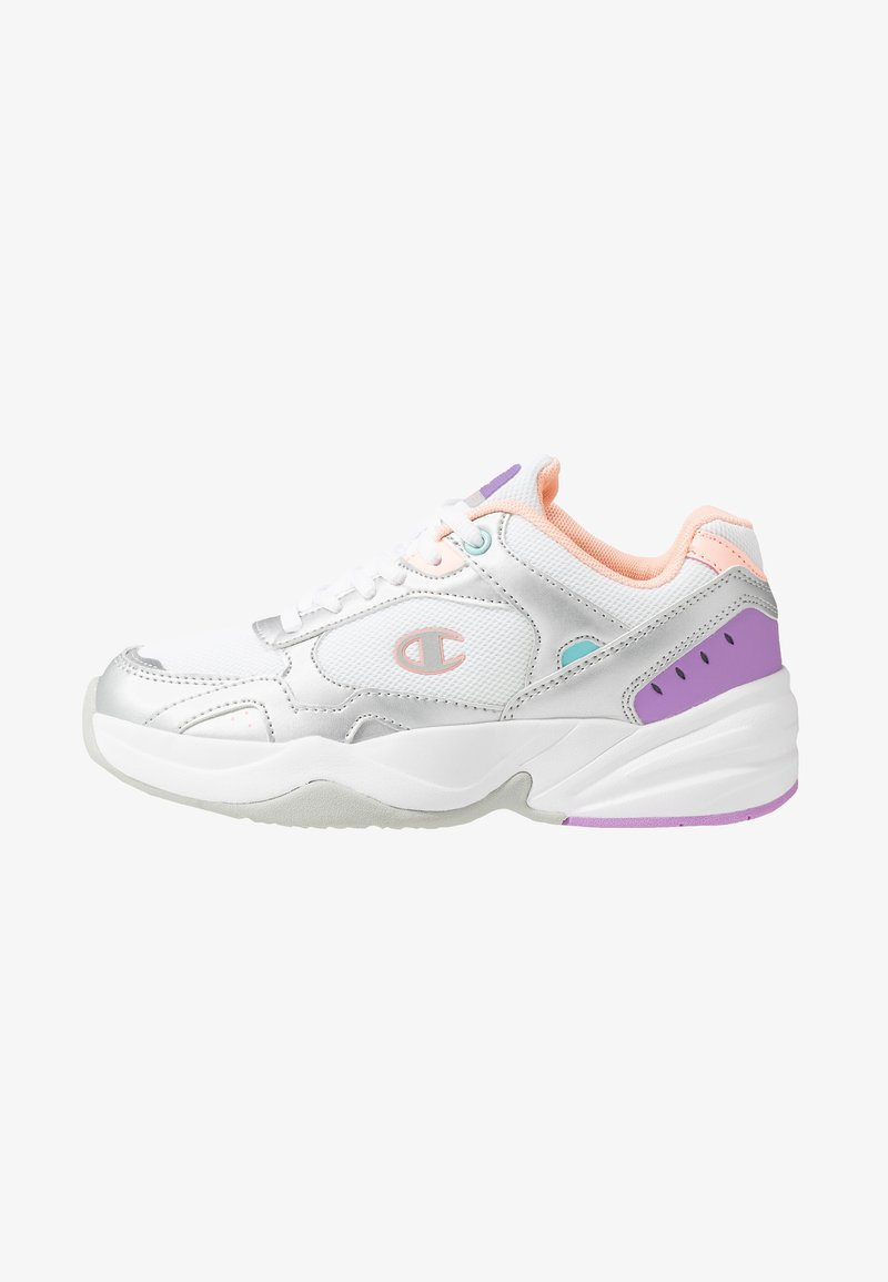 Champion - LOW CUT SHOE PHILLY - Sports shoes - white/grey/pink