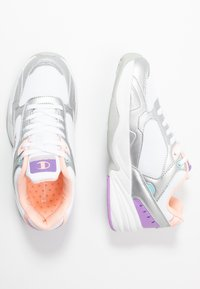 Champion - LOW CUT SHOE PHILLY - Obuwie treningowe - white/grey/pink - 1