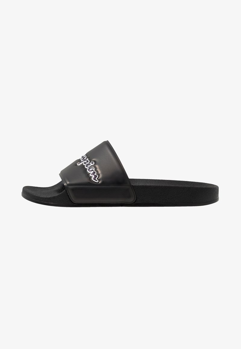 Champion - SLIDE M-EVO SCRIPT - Sandály do bazénu - triple black