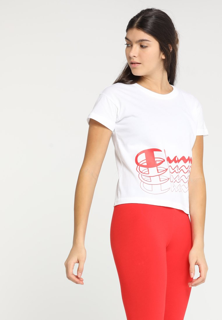 Champion - CROP - T-Shirt print - white