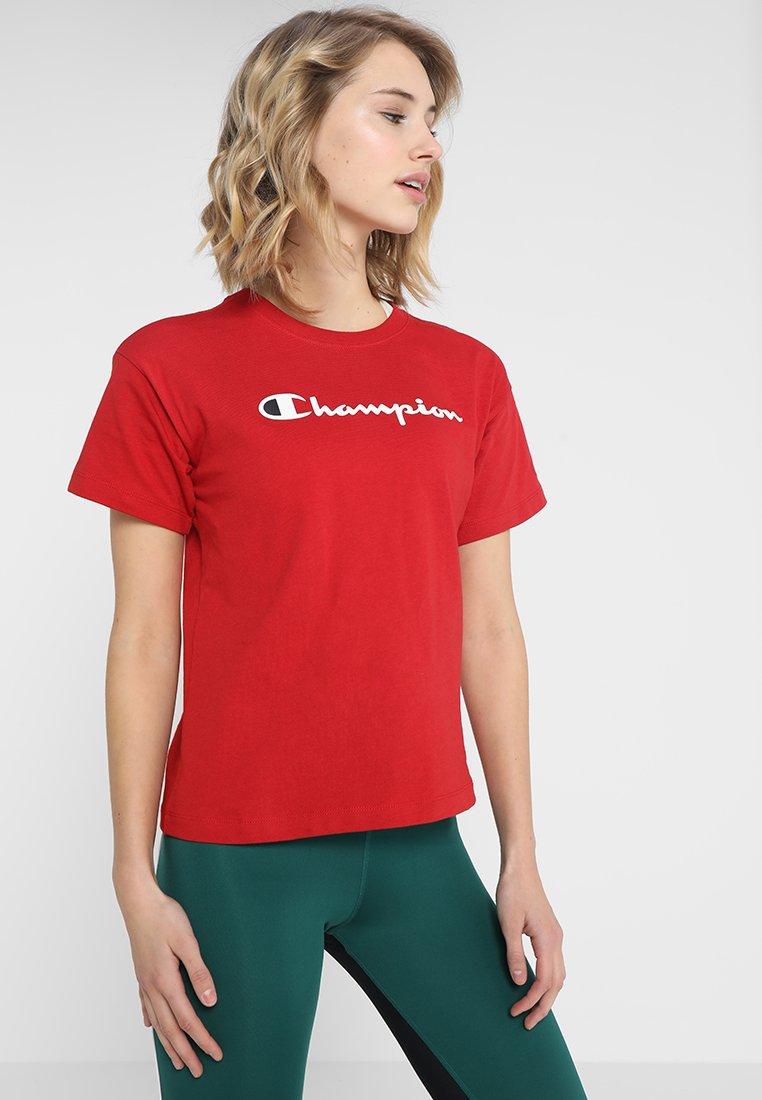 Champion - CREWNECK  - T-Shirt print - bordeaux