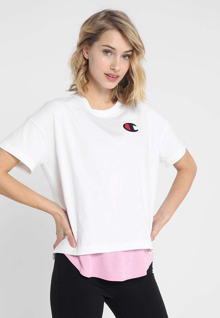 Champion - CREWNECK - T-shirt basic - white