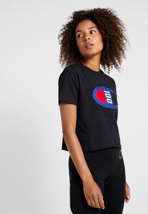 WOMENS CROP TEE - T-shirt z nadrukiem - black