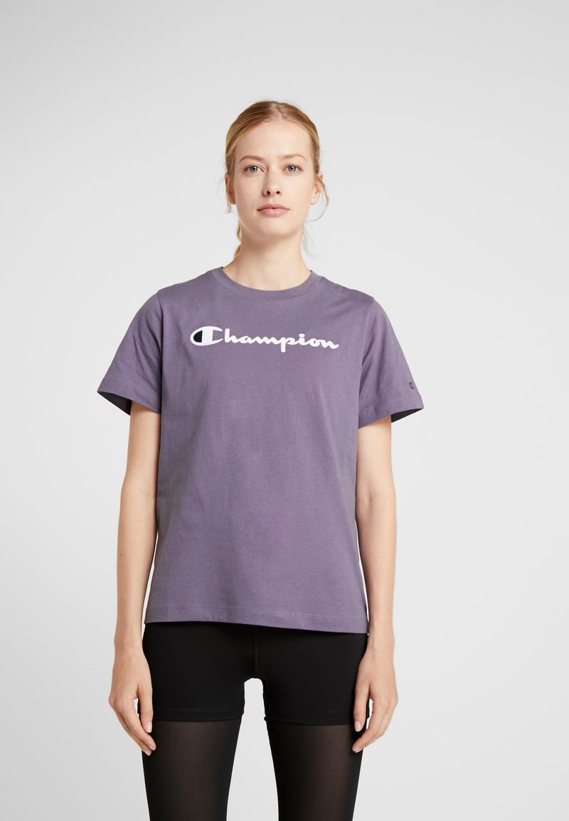 Champion - CREWNECK  - T-Shirt print - purple