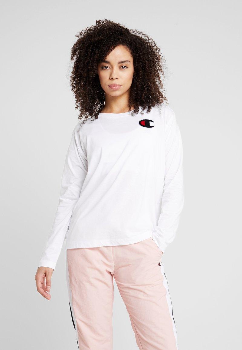 Champion - CREWNECK - T-shirt à manches longues - white