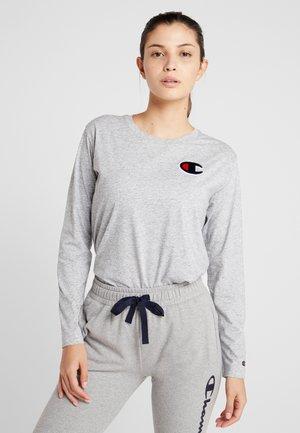 CREWNECK - Long sleeved top - mottled light grey