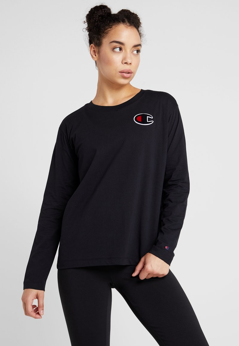 Champion - CREWNECK - Long sleeved top - black