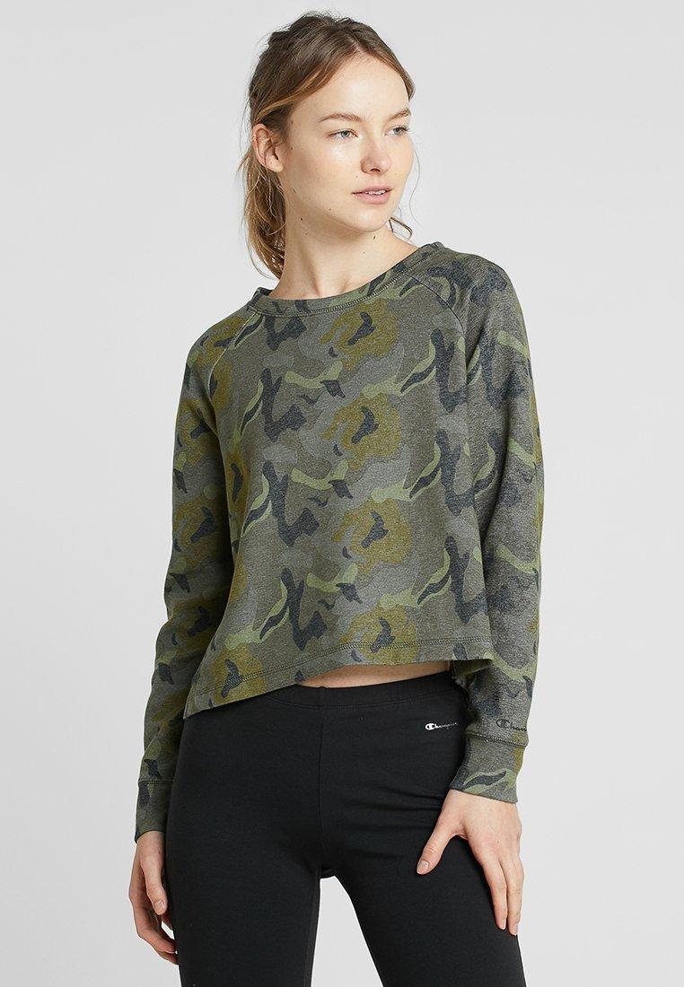 Champion - CREWNECK CROPTOP - Sweatshirt - oxy grey melange