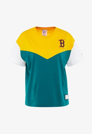 MLB BOSTON RED SOX CREWNECK - Print T-shirt - yellow/green