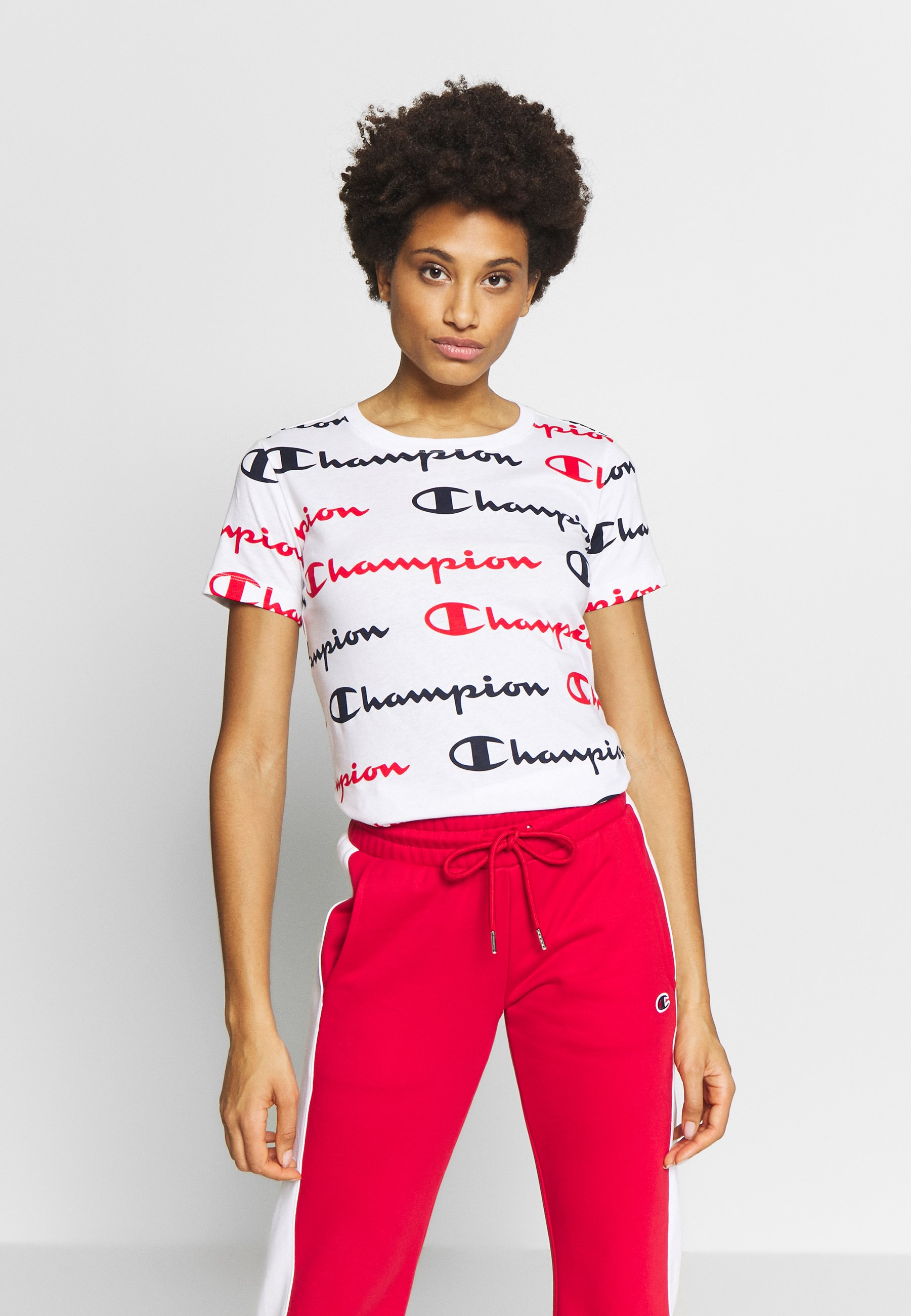 Champion CREWNECK - T-shirts med print - white