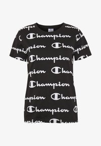 Champion - CREWNECK - Print T-shirt - black - 3
