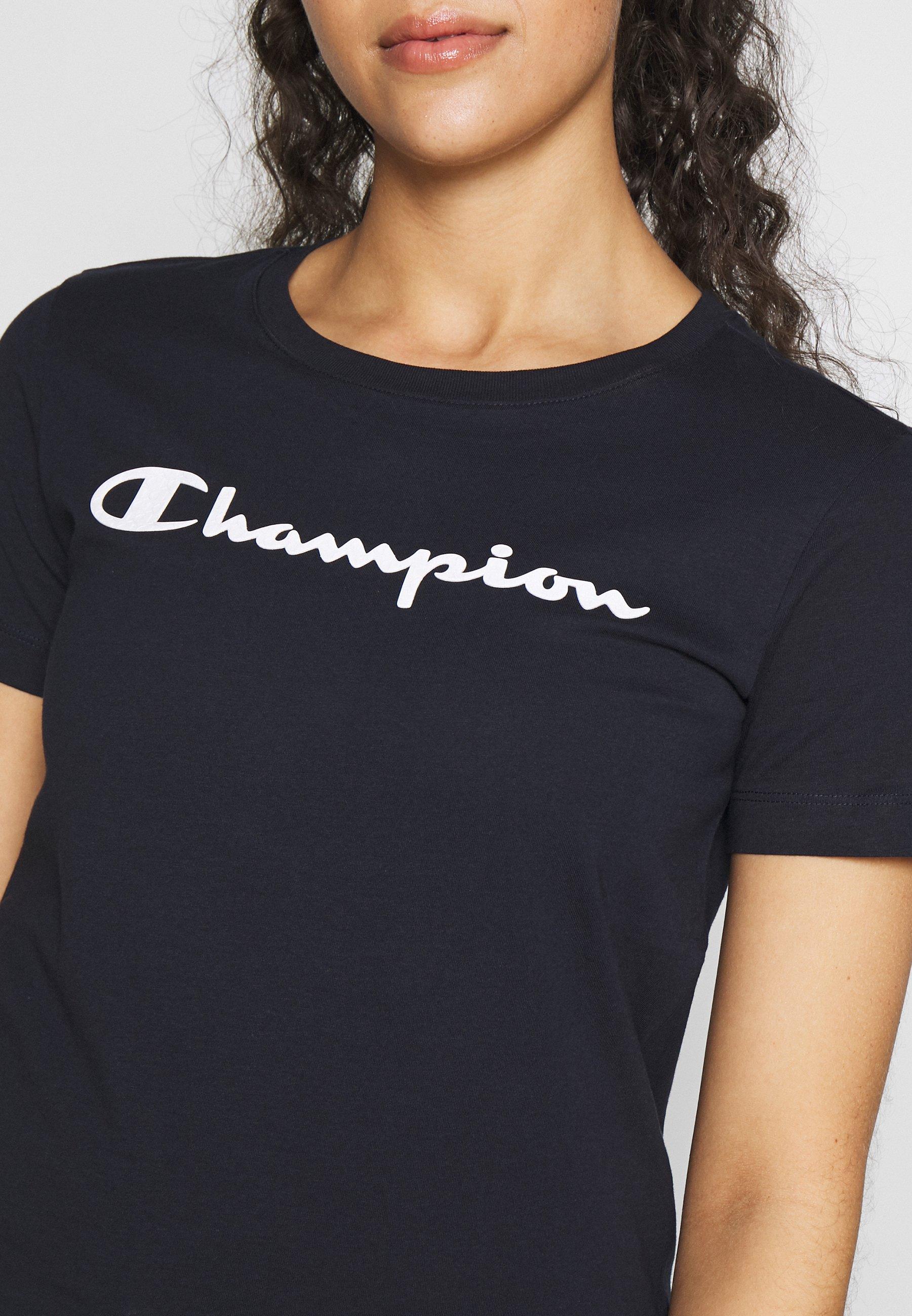 Champion CREWNECK - T-shirts med print - navy