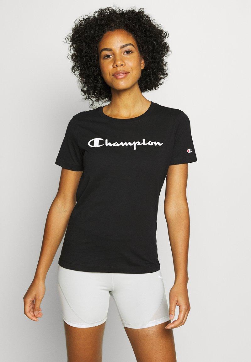 Champion - CREWNECK - Triko spotiskem - black
