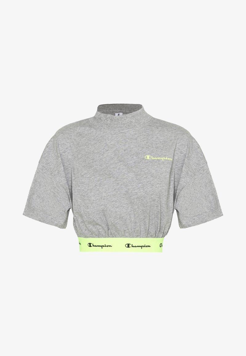 Champion - HIGH NECK - Camiseta estampada - dark grey