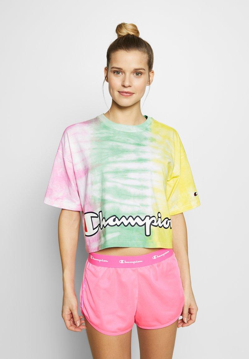 Champion - CREWNECK - Print T-shirt - yellow