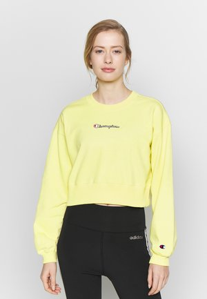 CREWNECK CROPTOP - Mikina - yellow
