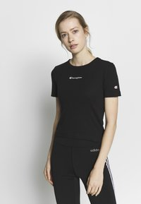 Champion - CREWNECK - T-shirts med print - black - 0