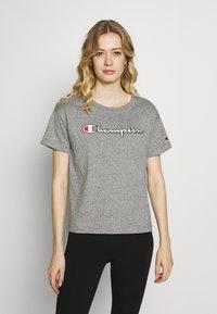 Champion - CREWNECK - Print T-shirt - grey melange - 0