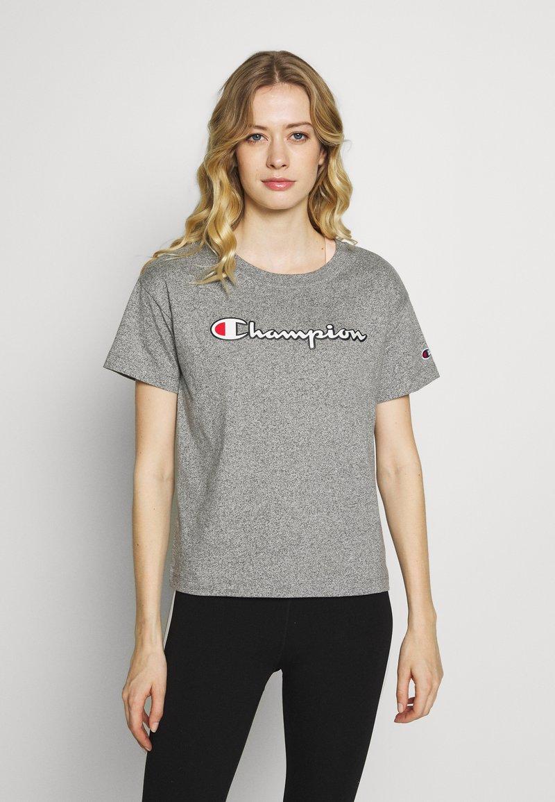 Champion - CREWNECK - Print T-shirt - grey melange