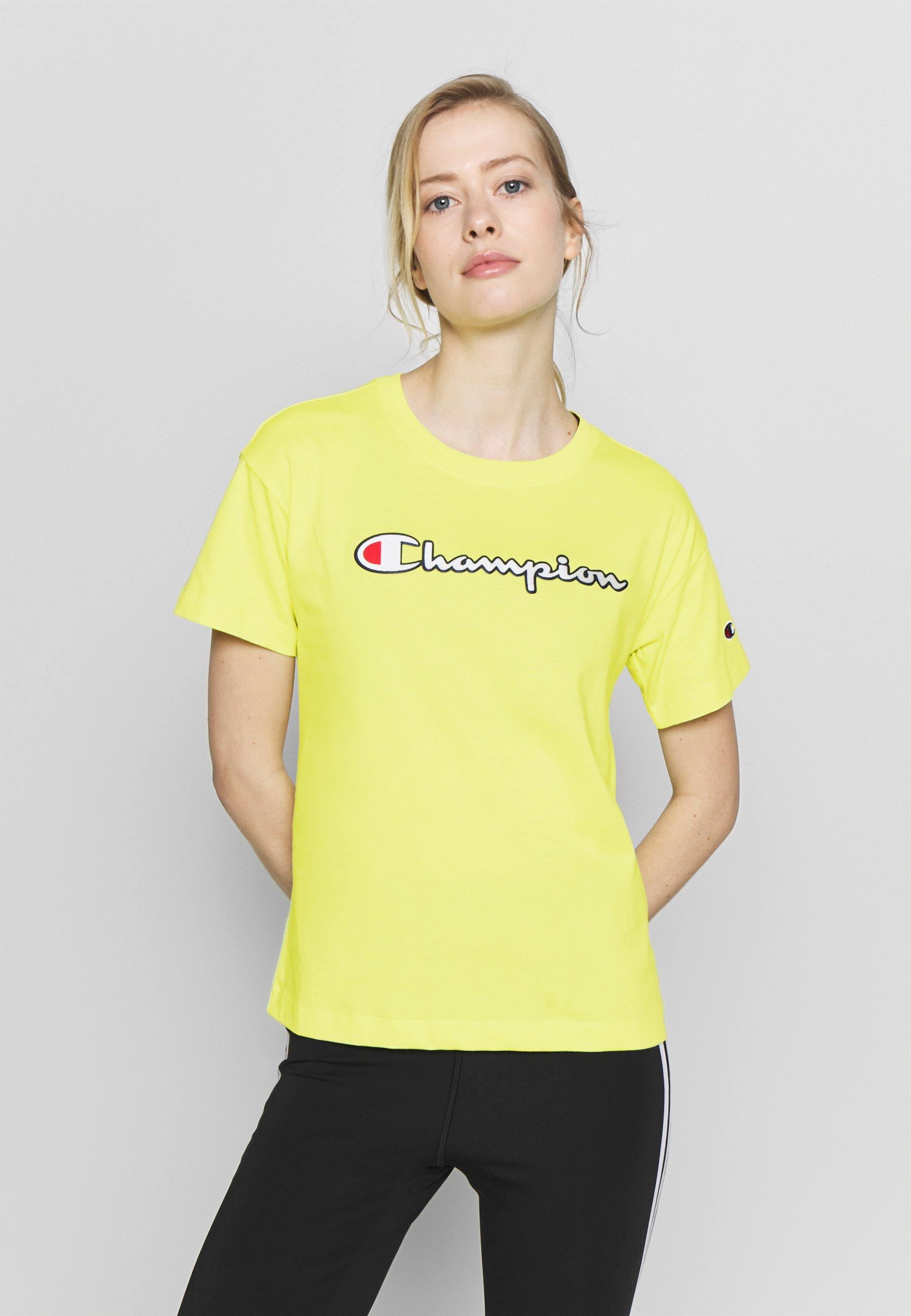 Reebok Activchill Tee T shirt Basic Damen Yellow Sport