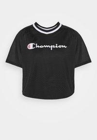 Champion - V NECK - Print T-shirt - black - 4