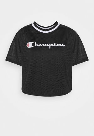 V NECK - T-shirt print - black