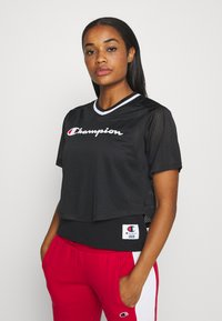 Champion - V NECK - Print T-shirt - black - 0