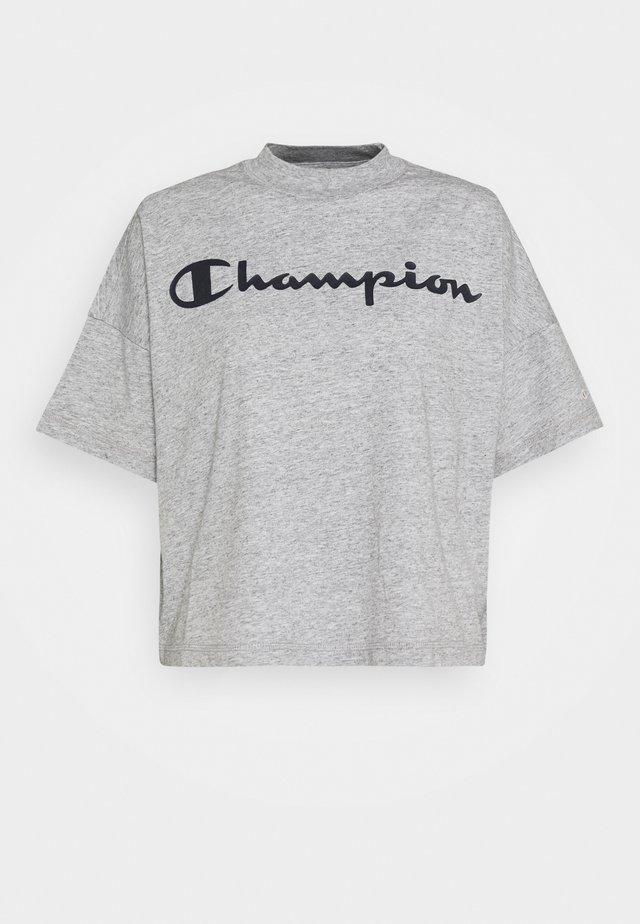 CROP LEGACY - Print T-shirt - mottled grey