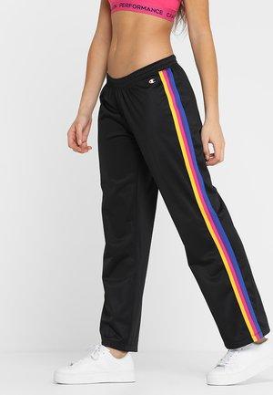 DRAWSTRING PANTS - Teplákové kalhoty - black