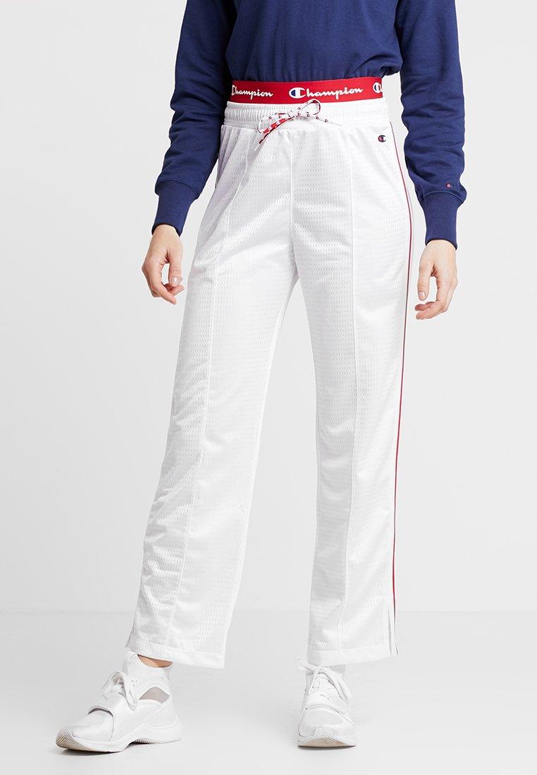 Champion - STRAIGHT PANTS - Tracksuit bottoms - white