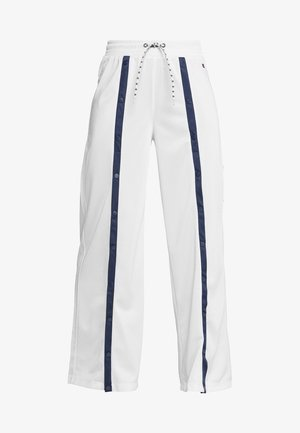 STRAIGHT HEM PANTS - Tracksuit bottoms - white