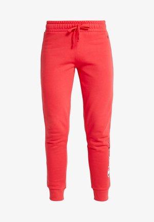 RIB CUFF PANTS - Pantalones deportivos - red