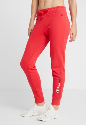 RIB CUFF PANTS - Verryttelyhousut - red