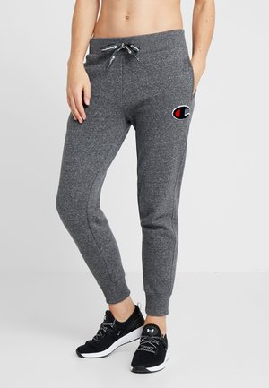 CUFF PANTS - Tracksuit bottoms - mottled dark grey