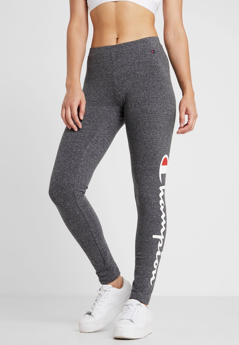 Champion - LEGGINGS - Tights - mottled dark grey