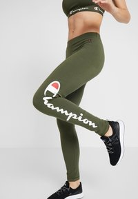 Champion - LEGGINGS - Punčochy - khaki - 3