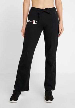 STRAIGHT PANTS - Teplákové kalhoty - black