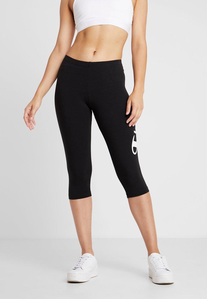 Champion - CAPRI PANTS - Träningsshorts 3/4-längd - black