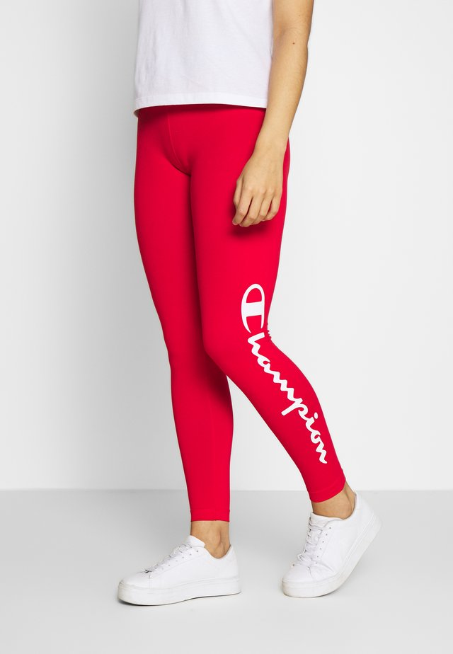 LEGGINGS - Punčochy - red