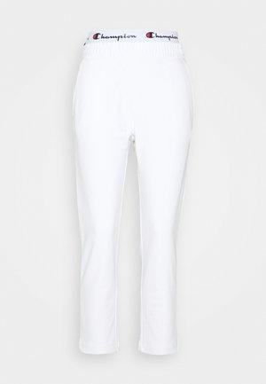 STRAIGHT PANTS - Teplákové kalhoty - white