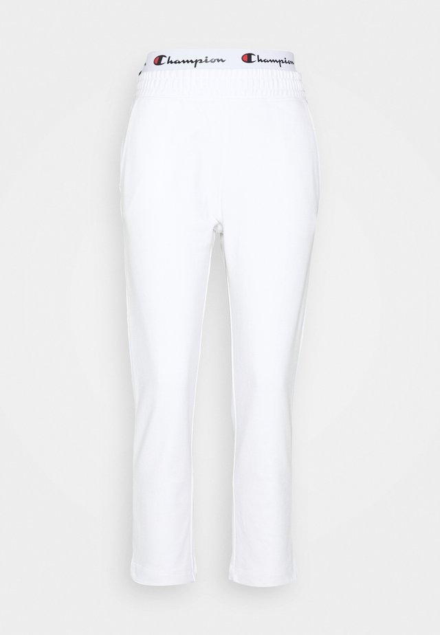 STRAIGHT PANTS - Spodnie treningowe - white