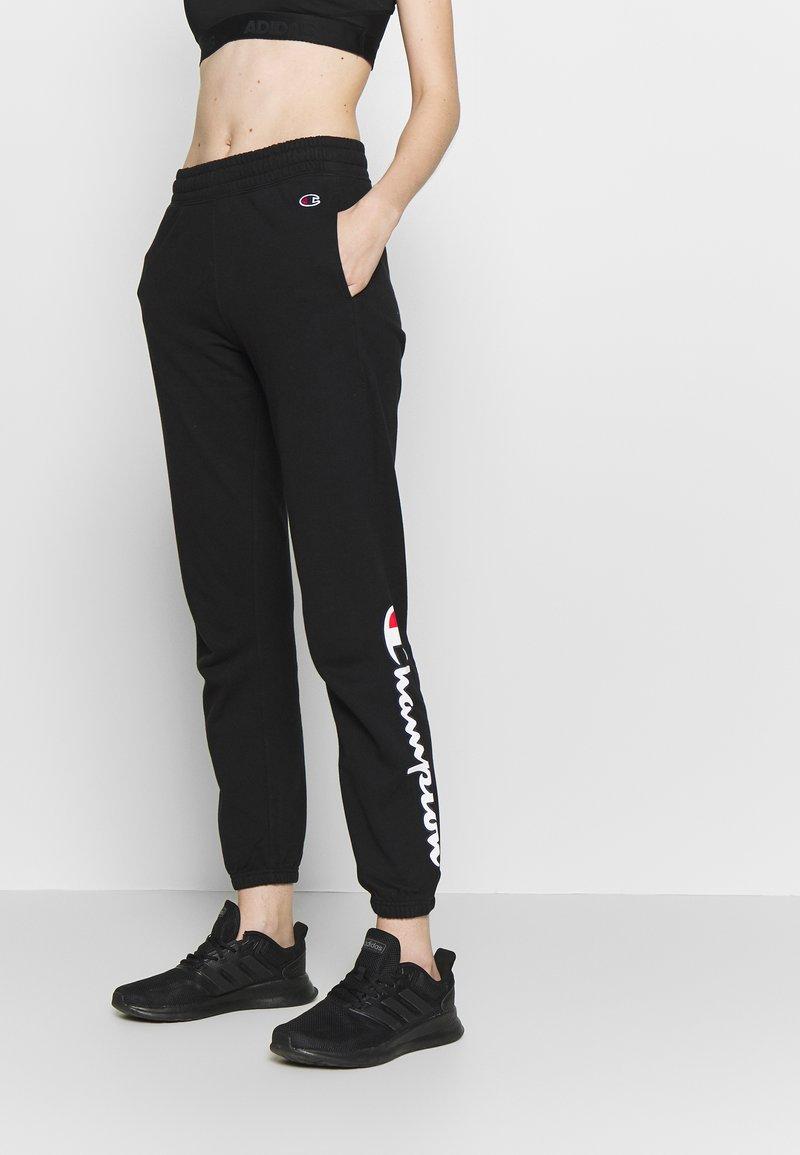 Champion - ELASTIC CUFF PANTS - Träningsbyxor - black
